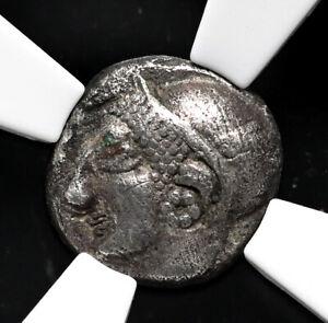IONIA, Phokaia. Circa 521-478 BC. AR Diobol, Archaic, NGC Ch VF, Countermark