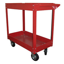 Olympia Tools 85-184 Rolling Steel Cart with 2 Shelves and Caster Wheels, Red