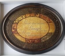 Oval Sentiment 1402-3127BOS 30 x 24 Live Laugh Love Framed Wall Print $85