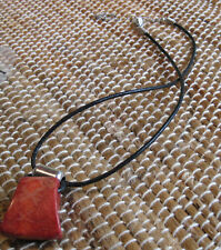 Leather Cord Sterling Necklace Retired Silpada N0965 Cardinal Rule Red Coral