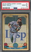 Mike Trout Los Angeles Angels 2019 Topps Gypsy Queen Baseball Card #1 PSA 10