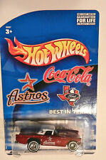 HOT WHEELS RED HOUSTON ASTRO'S 1957 FORD T-BIRD COCA COLA W/REAL RIDERS 2002