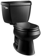 Kohler K-3577-7 Wellworth Class Five 2-Piece Round Toilet W/Left Lever Less Seat