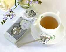 "75 ""Tea Time"" Heart Tea Infuser Tea-Time Gift Box Wedding Bridal Shower Favors"