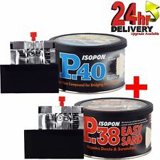 U-Pol David's Isopon P38 & P40 Body Filler Compound Car Body 2x250ml Repair Kit