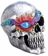 SPOOKY LIGHTED LED FANTASY SKULL FIGURINE SCULPTURE NIGHT LIGHT *Halloween* NIB
