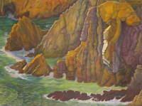 Diego Rivera La Quebrada Poster Reproduction Paintings Giclee Canvas Print