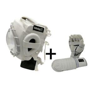 kudo Neo Head Gear full face Shield Kudo Fist gloves 100% pure Cotton