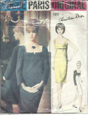 1964 Vintage VOGUE Sewing Pattern B36 DRESS (1511) BY Christian Dior