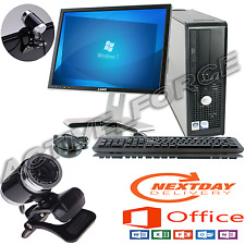 Windows 7 Dell OptiPlex Computer Desktop Tower PC Intel 8gb RAM 2000gb HDD WIFI