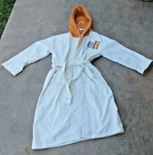MUHAMMAD ALI PLATINUM FUBU TERRY CLOTH WHITE AND BURNT ORANGE ROBE USED