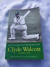 """1999 """"SIXTY YEARS ON THE BACK FOOT"""" SIR CLYDE WALCOTT BIO PAPERBACK BOOK (W)"""