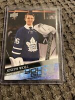 2020-21 UD Series 1 Young Guns Joseph Woll Rookie Card Maple Leafs 208 SP RC