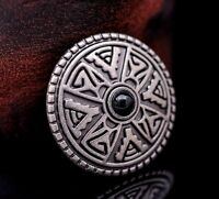 10X Western Equestrian Tack Antique Silver Celtic Cross Leathercraft Conchos