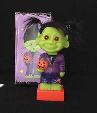 "Russ Trick Or Troll Bobblehead Halloween Decor Frankenstein 9"" Orange Base 18028"