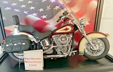 Franklin Mint The Heritage Softail Classic Harley Davidsonw/Tag DISPLAY CASE