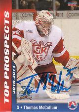 THOMAS MCCOLLUM GRIFFINS AUTOGRAPH AUTO 10/11 AHL TOP PROSPECTS #30 *21044