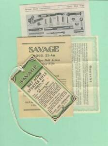 Savage Arms Model 23 AA 40's HT & Owners Manual Reproduction