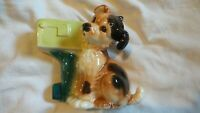 VINTAGE ROYAL COPLEY POTTERY PLANTER  PUPPY DOG WITH MAIL BOX 1950's