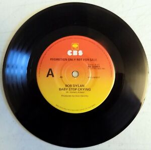 "Bob Dylan - Baby Stop Crying - 1978 - Australia 7"" Promo Single- New"