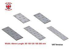 Flat Bracket Mending Plate Joiner 5 Sizes Width 40mm X 80mm Pack of 48 80 X 40 T 2mm 48