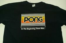 Pong In The Beginning There Was... Shirt Mens M Atari retro Video Game Tennis