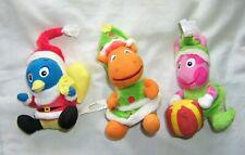 Lot 3 Backyardigans Christmas Plush 2007 pablo tyrone uniqua stuffed toy