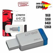 PENDRIVE MEMORIA FLASH UNIDAD KINGSTON USB DATATRAVELER 16GB 32GB 64GB 128GB
