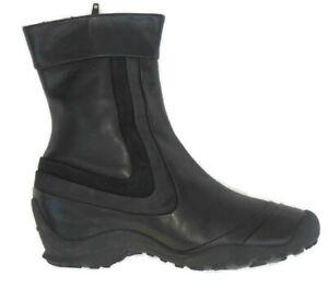 Merrell Eden Black Leather Short Boots Womens Sz 7.5 EUR 38