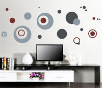 Gray dot Home Decor Removable Wall Stickers Decal Decoration Vinyl Mural