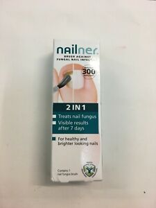 Nailner 2 in 1 brush against fungal nail infection, over 300 applications