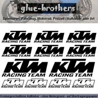 KTM Aufkleber Set Raceing Team Farbwahl Motorsport Decal Sticker Sponsoren Fett