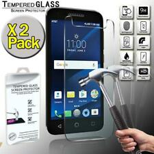 2 Pack Tempered Glass Screen Protector Cover For Alcatel IdealXCITE