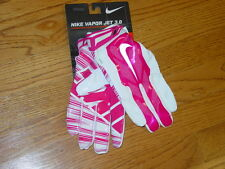 Nike Adult L Vapor Jet 3.0 Receiving Football Gloves Cancer Pink Womens Mens New