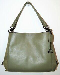 NWT COACH Light Fern Mixed Pebbled Leather Dalton 31 Hobo Bag Purse 79574