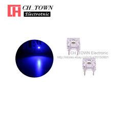 100pcs 3mm Piranha Super Flux Blue Light Round Top LED Diodes Ultra Bright USA