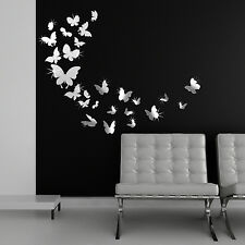 Family Stickers Wall Mural Decal Paper Bedroom Art Decoration Mirror Butterflies