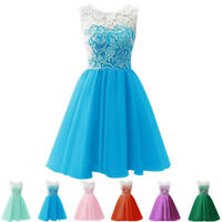 Girls Floral Kids Summer Party Dresses Age 7-13 Years Wedding Bow Dress NEW