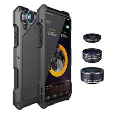 Shockproof Metal Case Camera Lens Hybrid for iPhone X XS Max XR 8 7 6 Waterproof