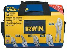Vise Grip 2077704 5 Piece Locking Pliers Set In A Canvas Tool Tote Bag