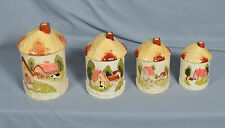 Marks & Rosenfeld Farm House Barn Country Cottage Farm Canisters Set of 4