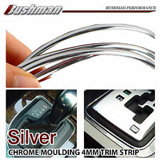2M Silver Moulding Trim Car Strip Chrome Decal Dashboard Interior Edge Cover 4mm
