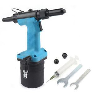 Air Rivet Nut Gun Set Pneumatic Riveter Pull Setter Riveting Range 3.2mm-4.8mm