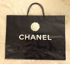 Authentic Extra Large Chanel Paper Shopping Gift Bag Glossy