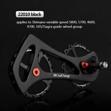 Bike Pulley Wheel Rear Derailleur Ceramic Bearing 17T For SHIMANO 4600 4700 5800
