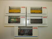 5 Märklin Eisenbahn Güterwagen 31979 00754-04 05 00759-17 44900.002 Spur H0 OVP