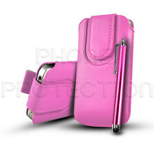Button Close Pull Tab Case Cover Pouch Holster & Stylus For Various LG Phones