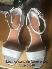 Cream Leather sandals Size 5
