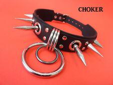 Leather Choker Punk Gothic Cyber emo psycho-billy rock Biker Industrial cosplay