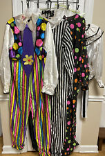 Vintage Rubie's Clown Costumes Lot (4 Set)  Multi Color ONE SIZE/XL Made In USA